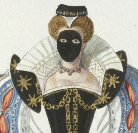 Demoiselle en masque, 1586, Gallica